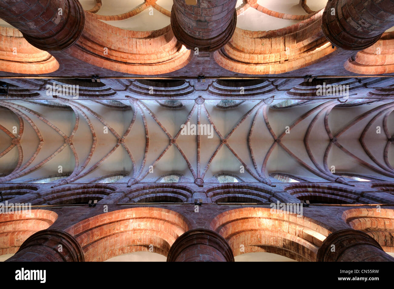 The ceiling of St Magnus Cathedral, Kirkwall, Orkney - Stock Image
