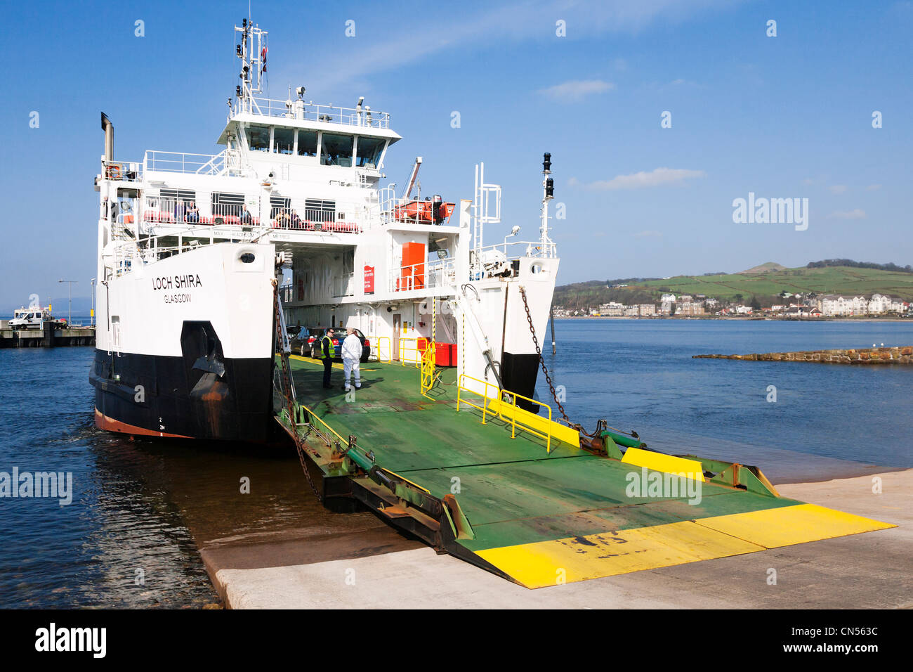 MV Loch Shira, the Largs to the Isle of Cumbrae ferry, North Ayeshire, Scotland. - Stock Image