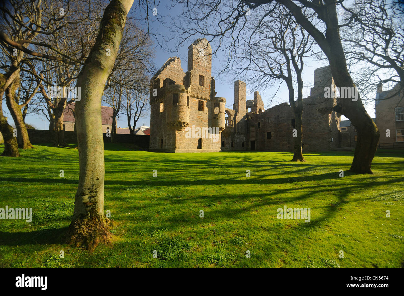 The Earl's Palace, Kirkwall, Orkney - Stock Image