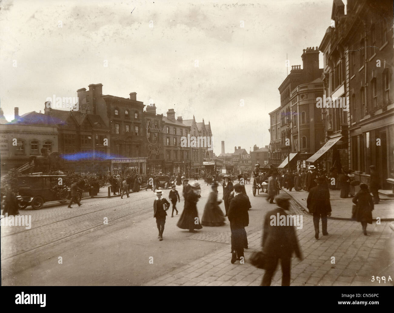 Queen Square, Wolverhampton, early 20th century. - Stock Image