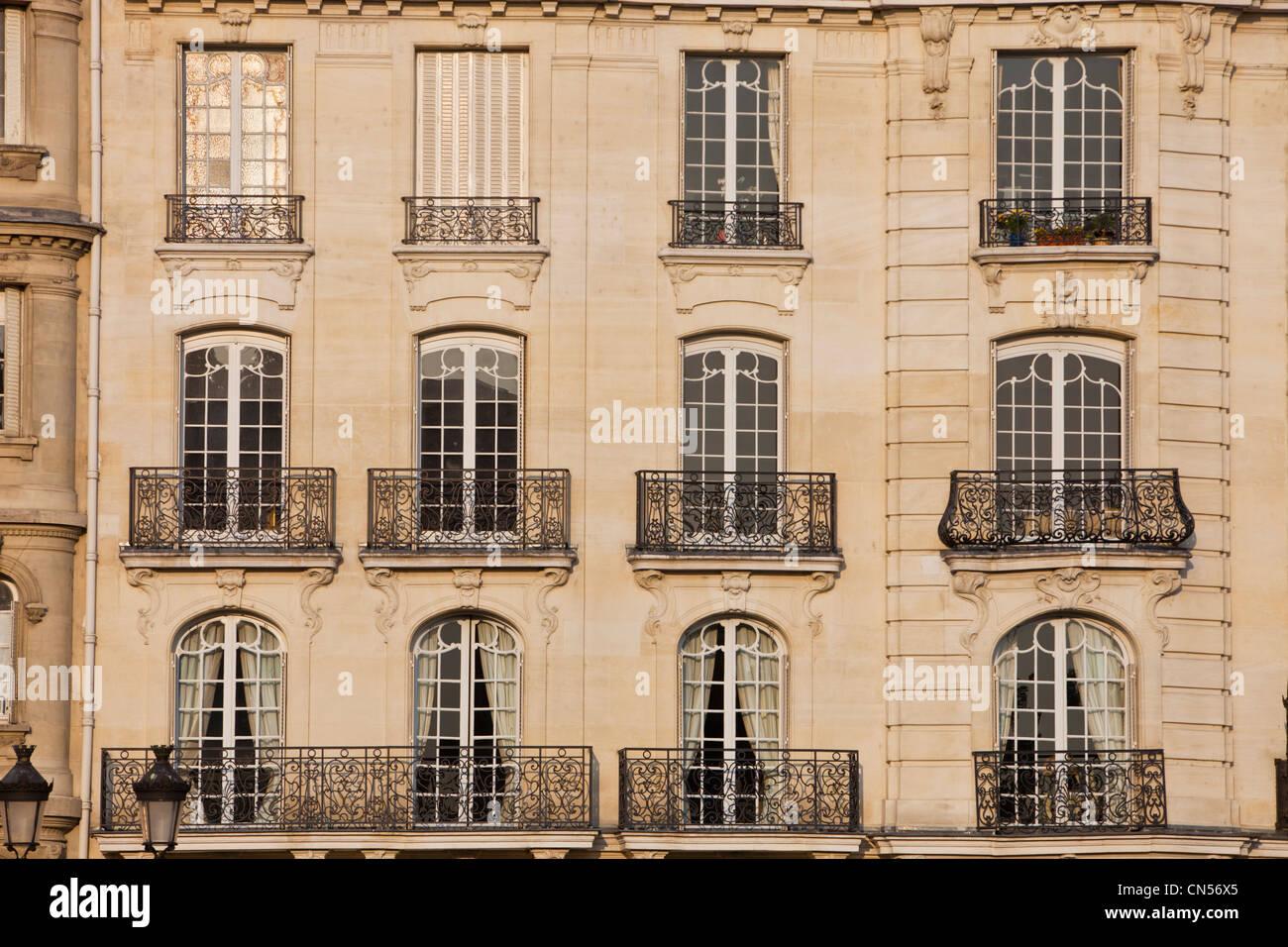 France Paris Haussmann building type facade on the Ile St Louis