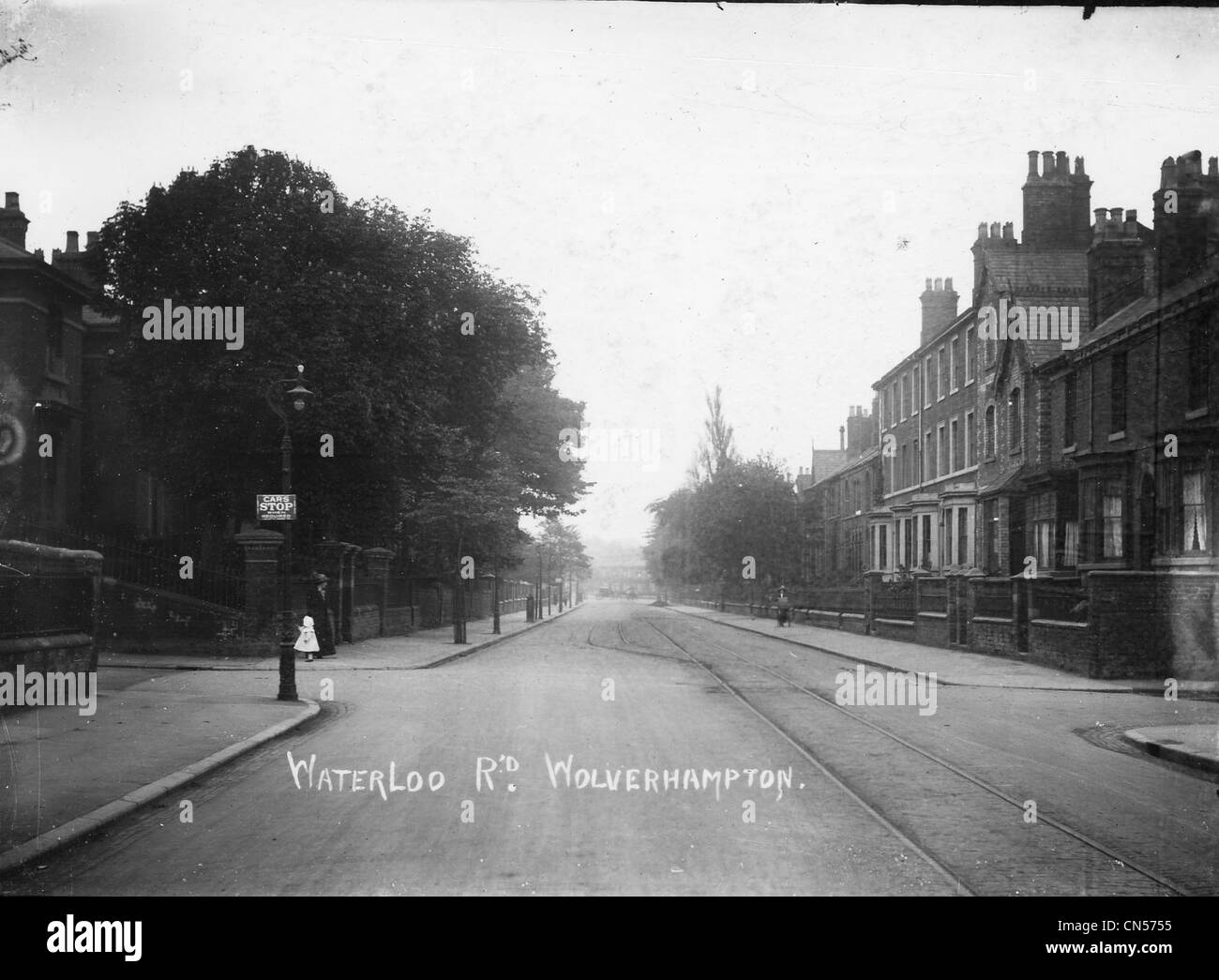 Waterloo Road, Wolverhampton, early 20th century. - Stock Image
