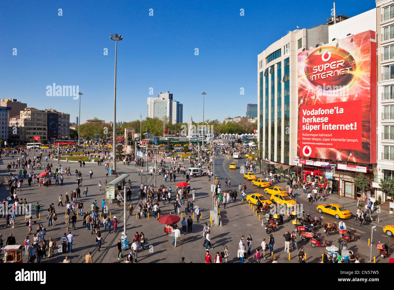 Turkey, Istanbul, Beyoglu, Taksim district, Taksim square - Stock Image