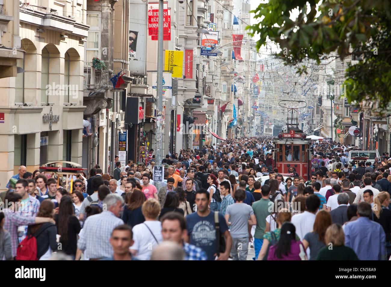 Turkey, Istanbul, Beyoglu, Taksim district, Taksim square ...