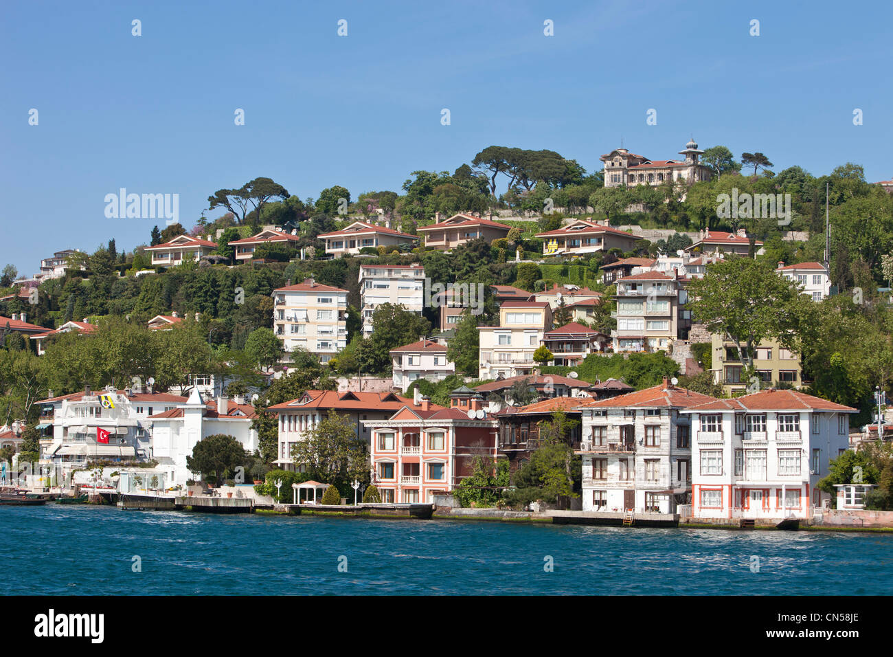 urkey, Istanbul, residential area on the eastern side of the Bosphorus - Stock Image