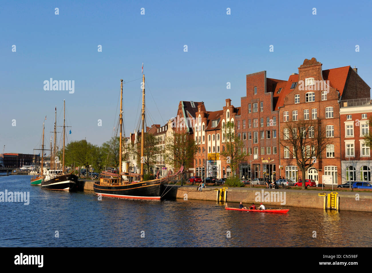 Germany, Schleswig Holstein, Lubeck, listed as World Heritage by UNESCO - Stock Image