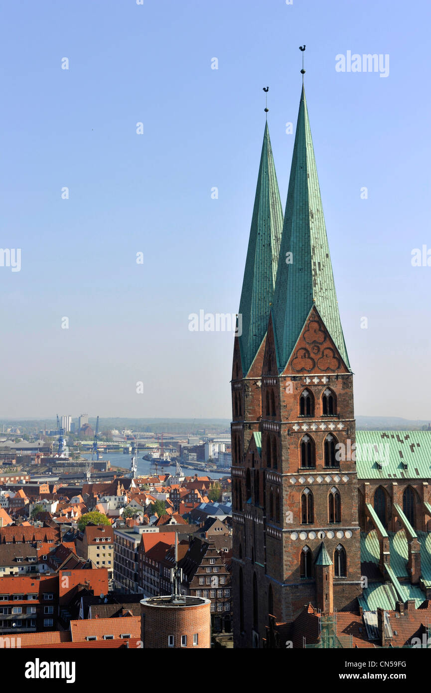 Germany, Schleswig Holstein, Lubeck, listed as World Heritage by UNESCO, Marienkirche - Stock Image