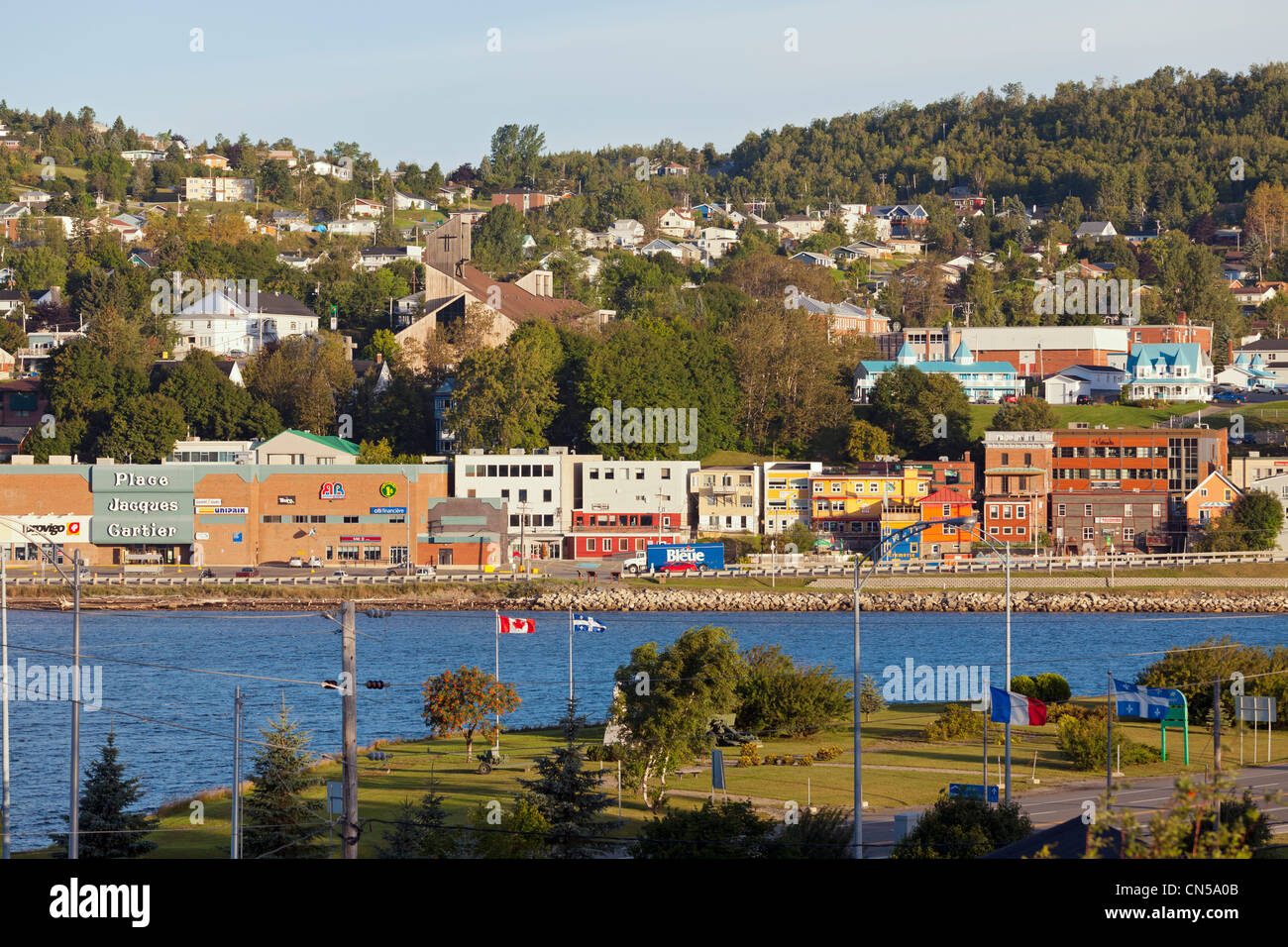 Canada, Quebec Province, Gaspe Peninsula, Gaspe, general view of the city - Stock Image