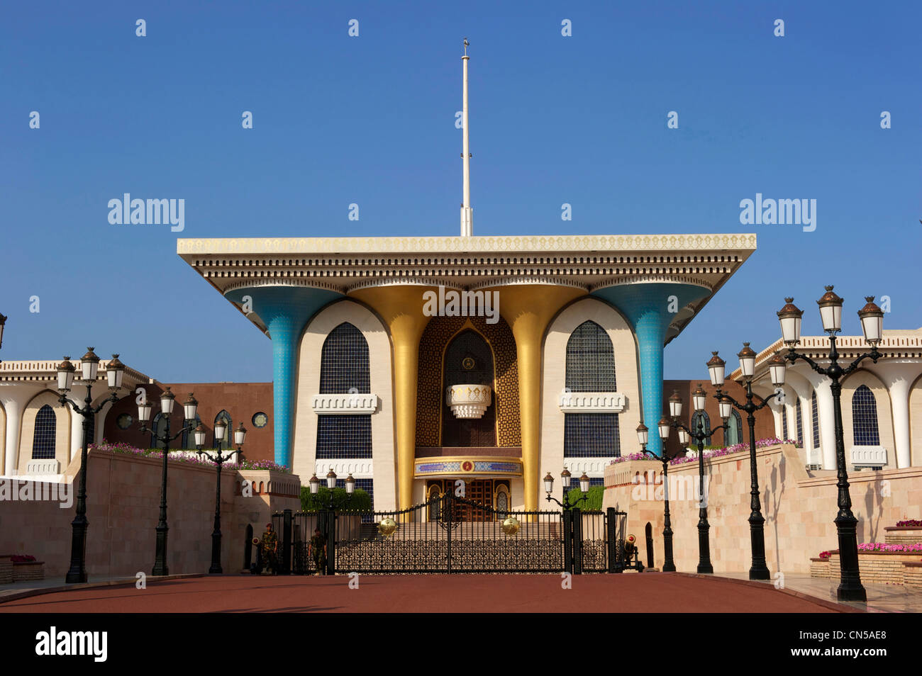 Sultanate of Oman, Muscat, Al Alam Palace for official receptions of sultan Qaboos - Stock Image