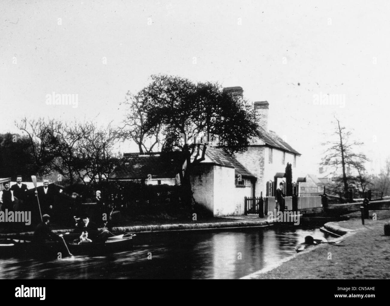Compton Lock, Wolverhampton, Staffordshire & Worcestershire Canal, early 20th century. - Stock Image