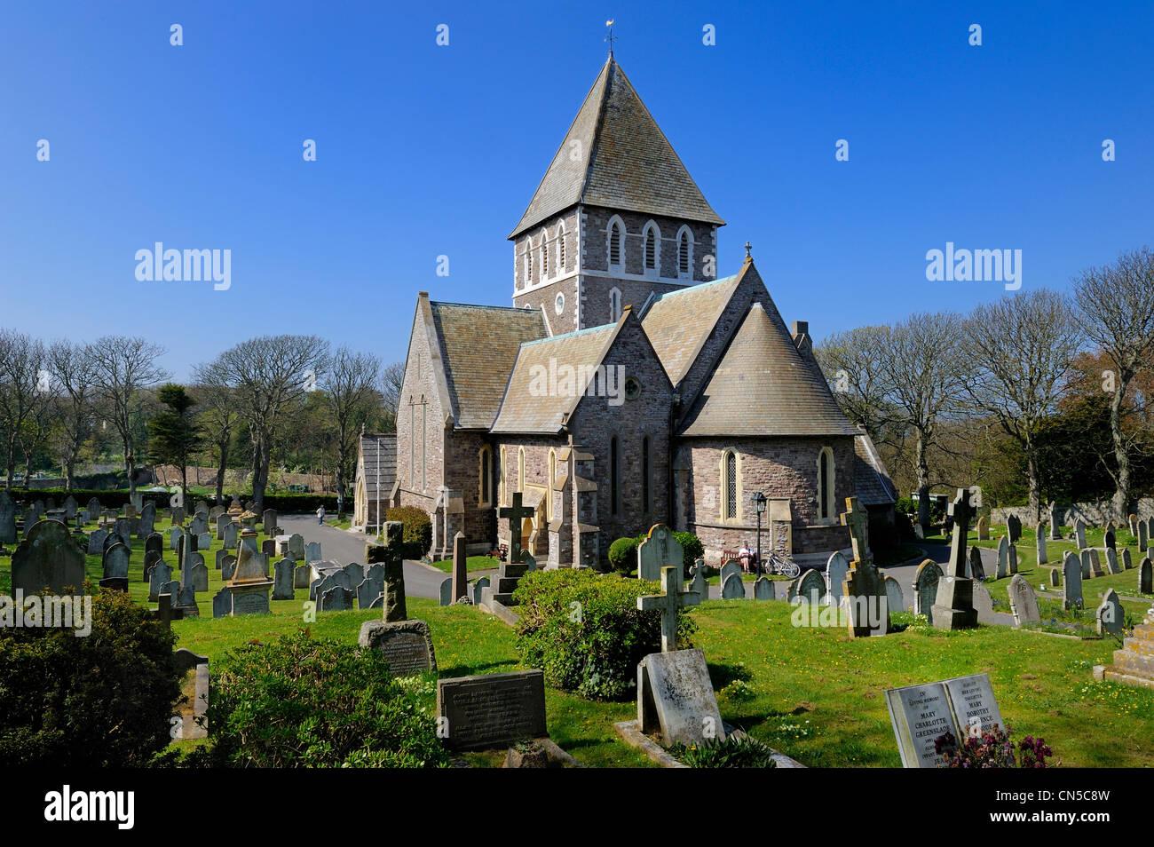 United Kingdom, Channel islands, Alderney, St Anne's church - Stock Image
