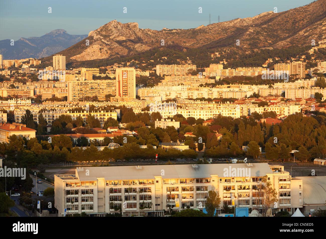 France, Bouches du Rhone, Marseille, 9th arrondissement, Palais des Sports (Sports Hall), La Capelette District - Stock Image