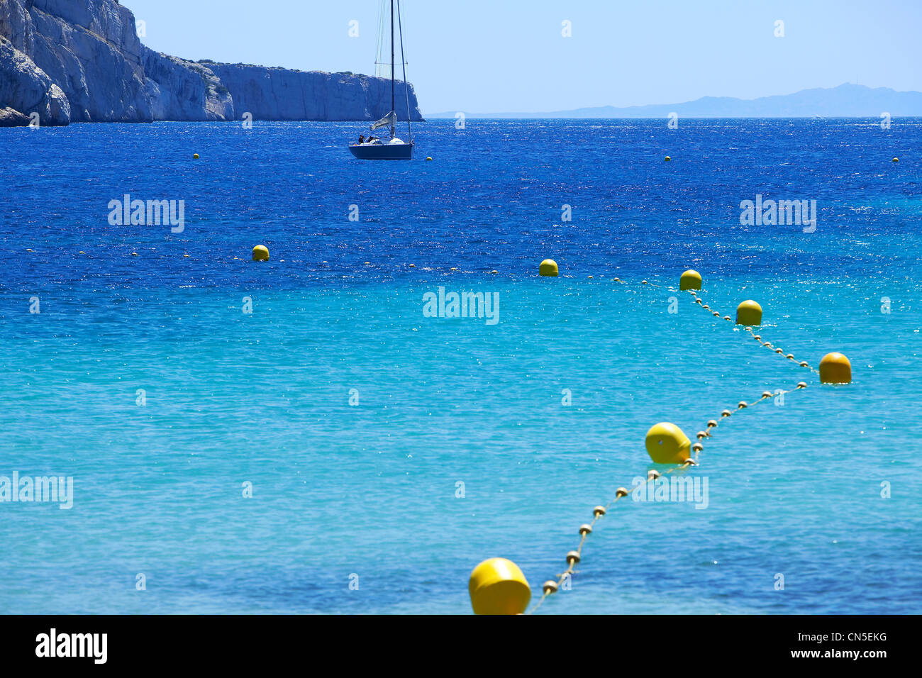 France, Bouches du Rhone, Marseille, 9th arrondissement, Calanque de Sormiou - Stock Image