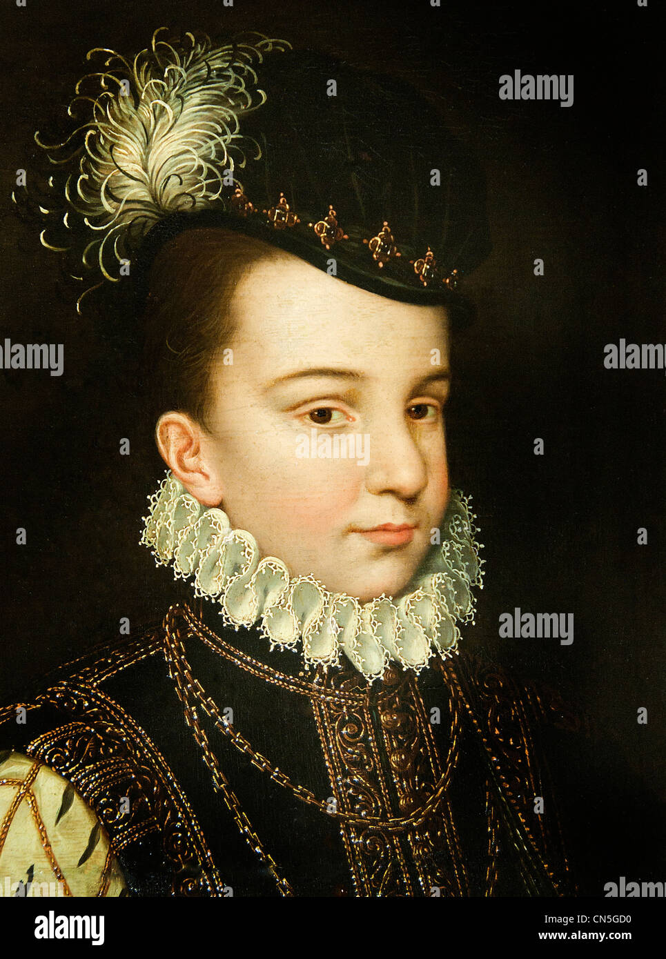 FRANÇOIS Hercule de France duc d'Alençon son of Henry II of France and Catherine de Mediciby CLOUET - Stock Image