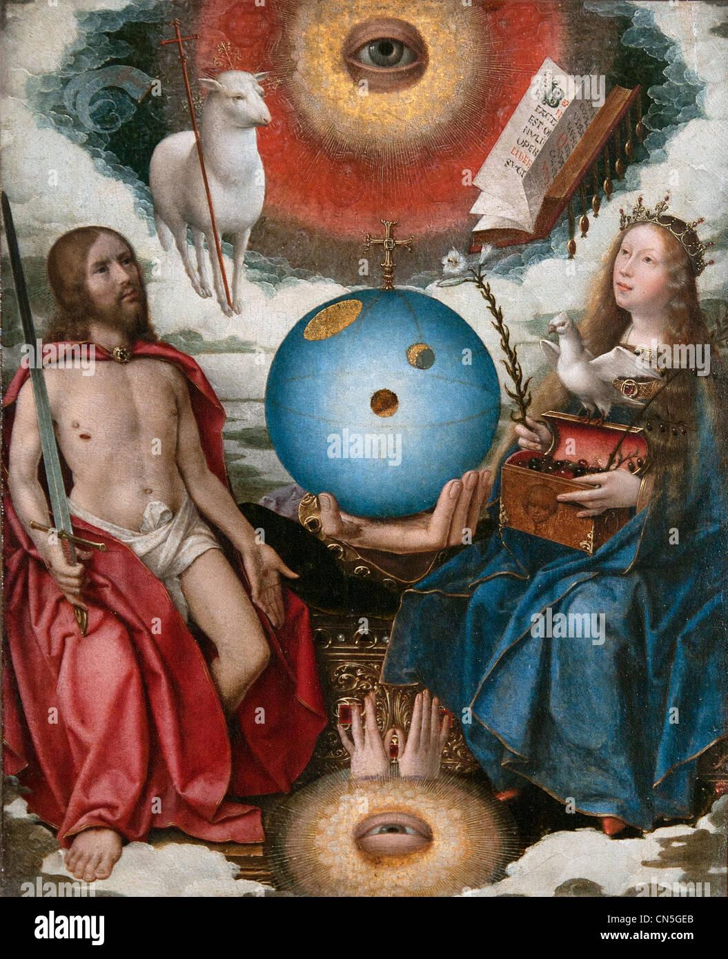 Christian allegory by Jan Provost 1465 - 1529 Belgian Belgium Stock Photo