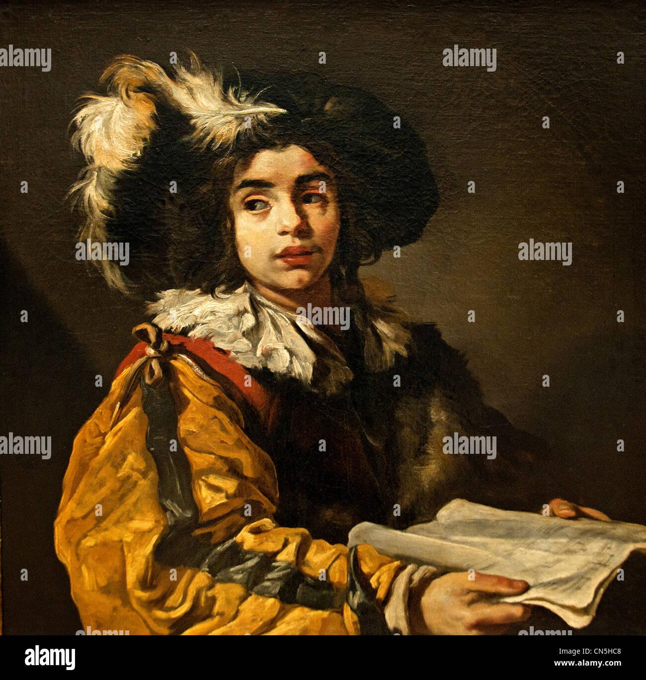 Le Jeune Chanteur - The Young Singer 1622 by Claude Vignon 1593-1670 France French - Stock Image