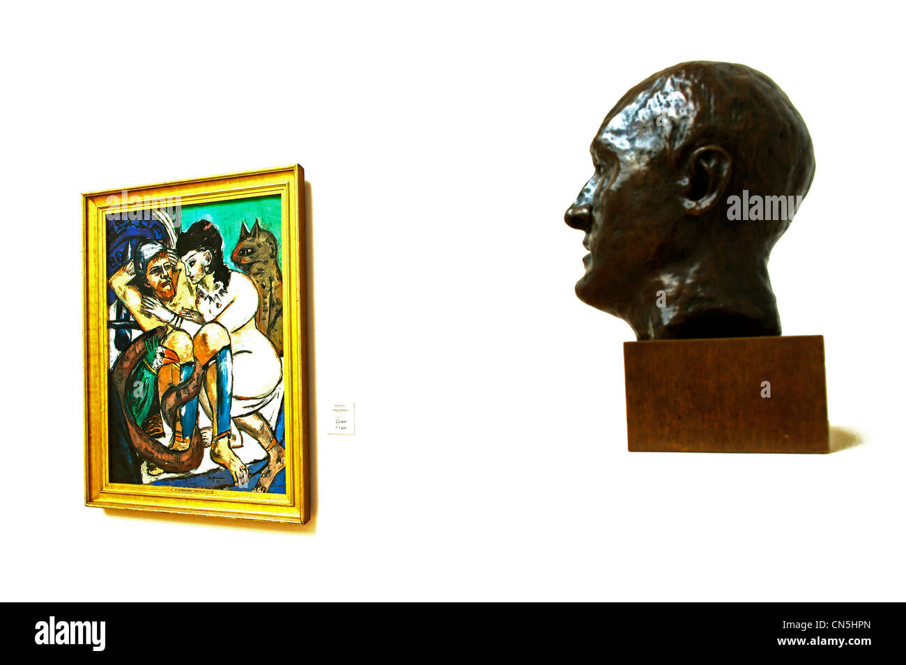 Germany, Hamburg, European Green Capital 2011, Kunsthalle, museum of Fine Arts, Self Portrait (1936) and Ulysses - Stock Image