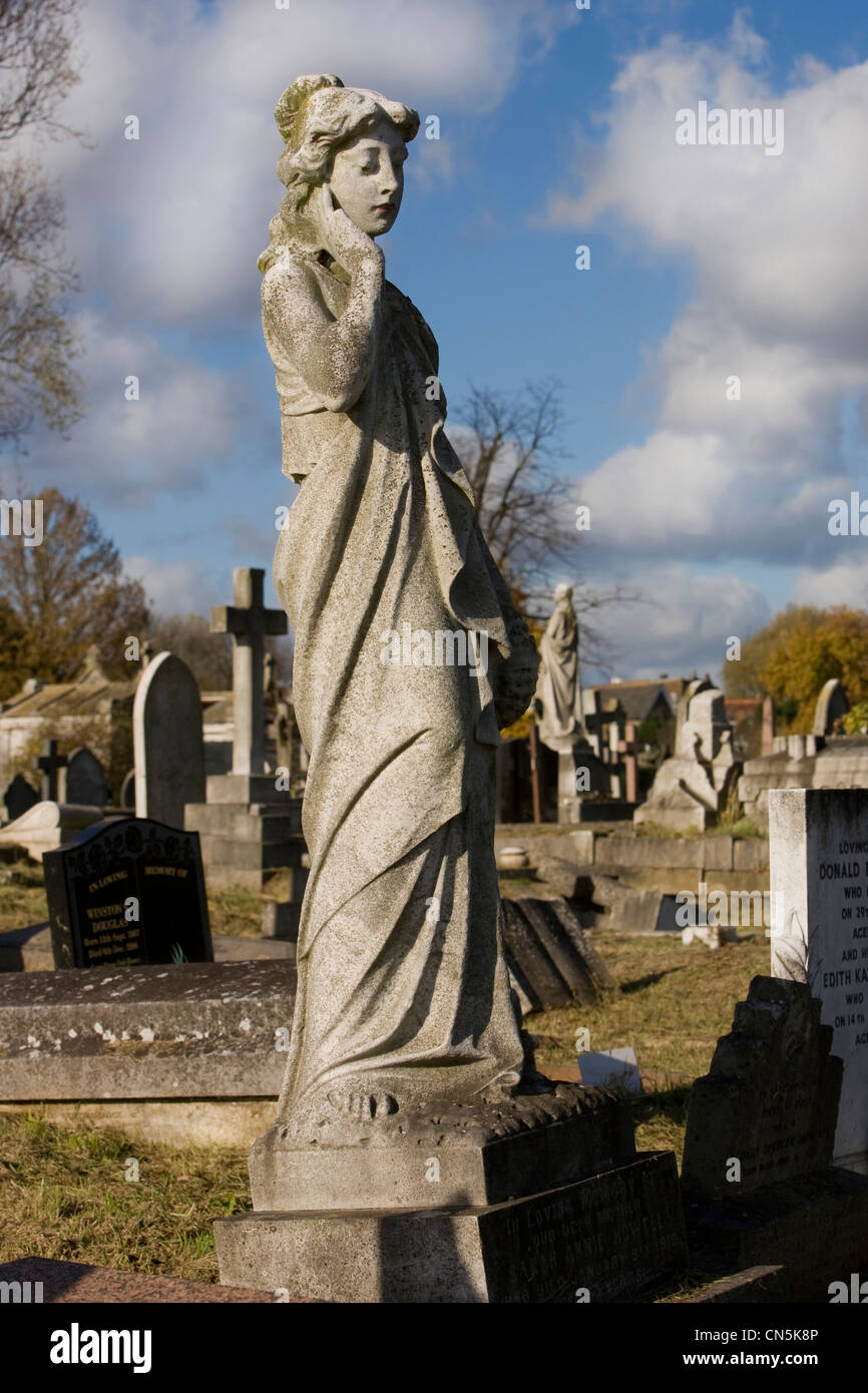 Monument in Kensal Green Cemetery, North West London. - Stock Image