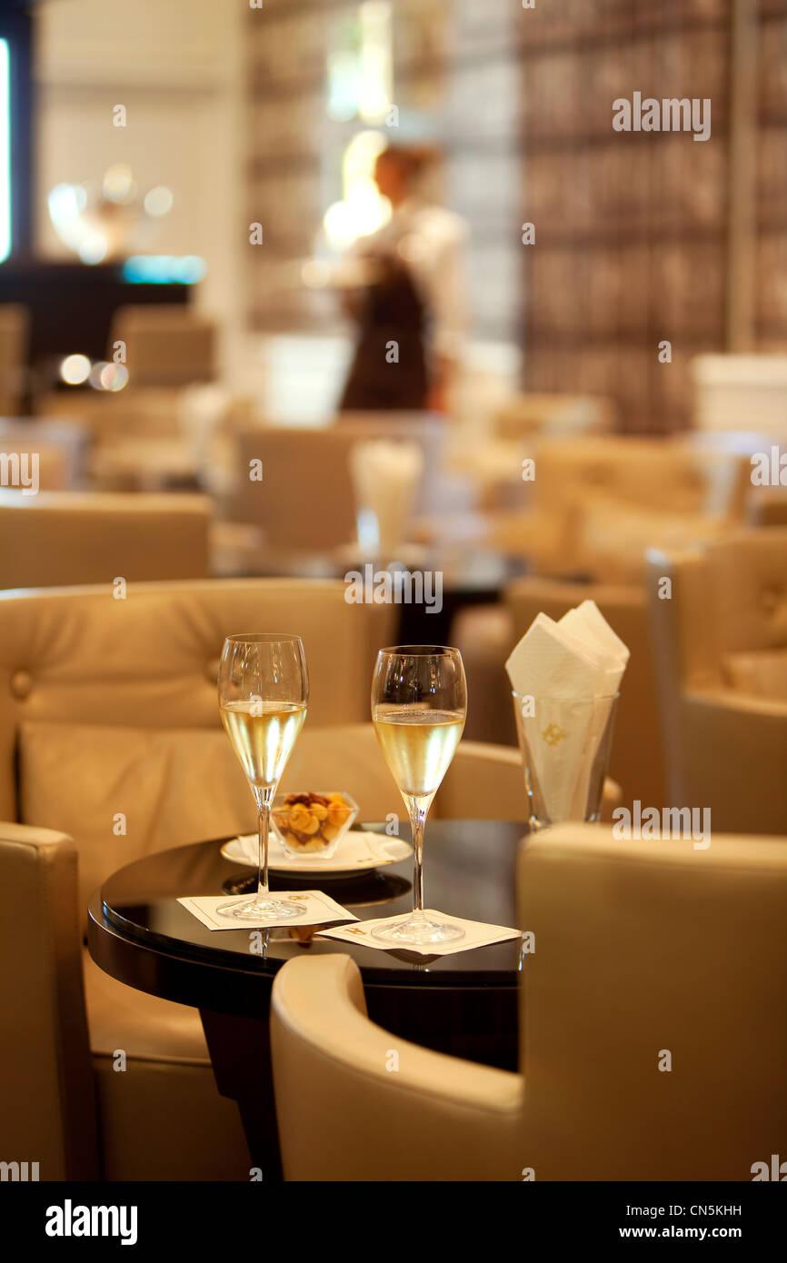 Principality of Monaco, Monaco, Monte Carlo, Societe des Bains de Mer de Monaco, Hotel Hermitage, the Crystal Bar, - Stock Image