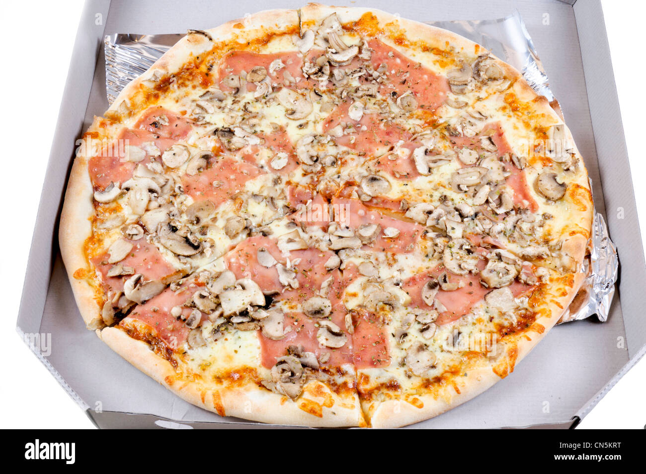 Pizza in the delivery box - Stock Image