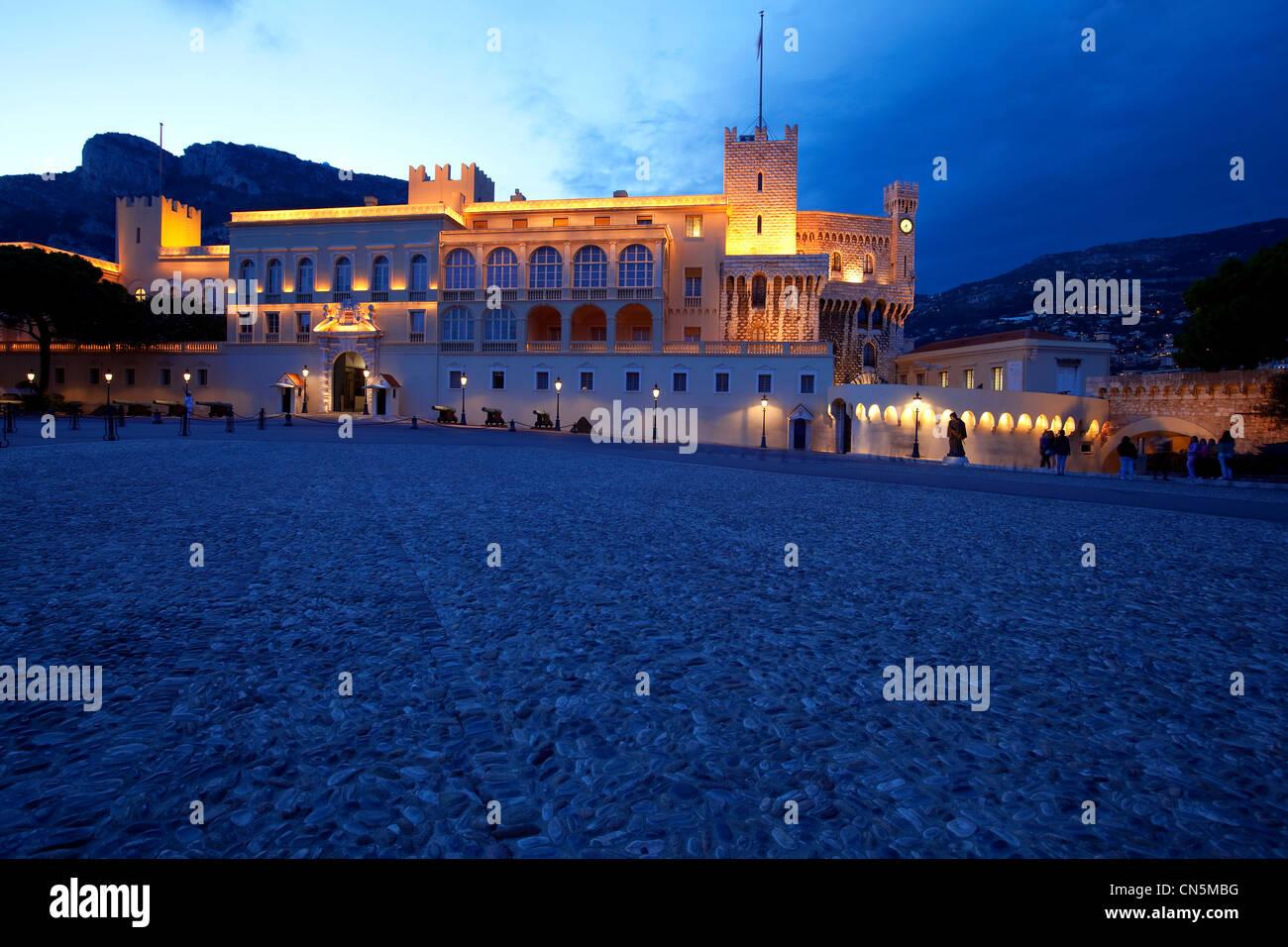 Principality of Monaco, Monaco, Place du Palais (Palace square), royal palace - Stock Image