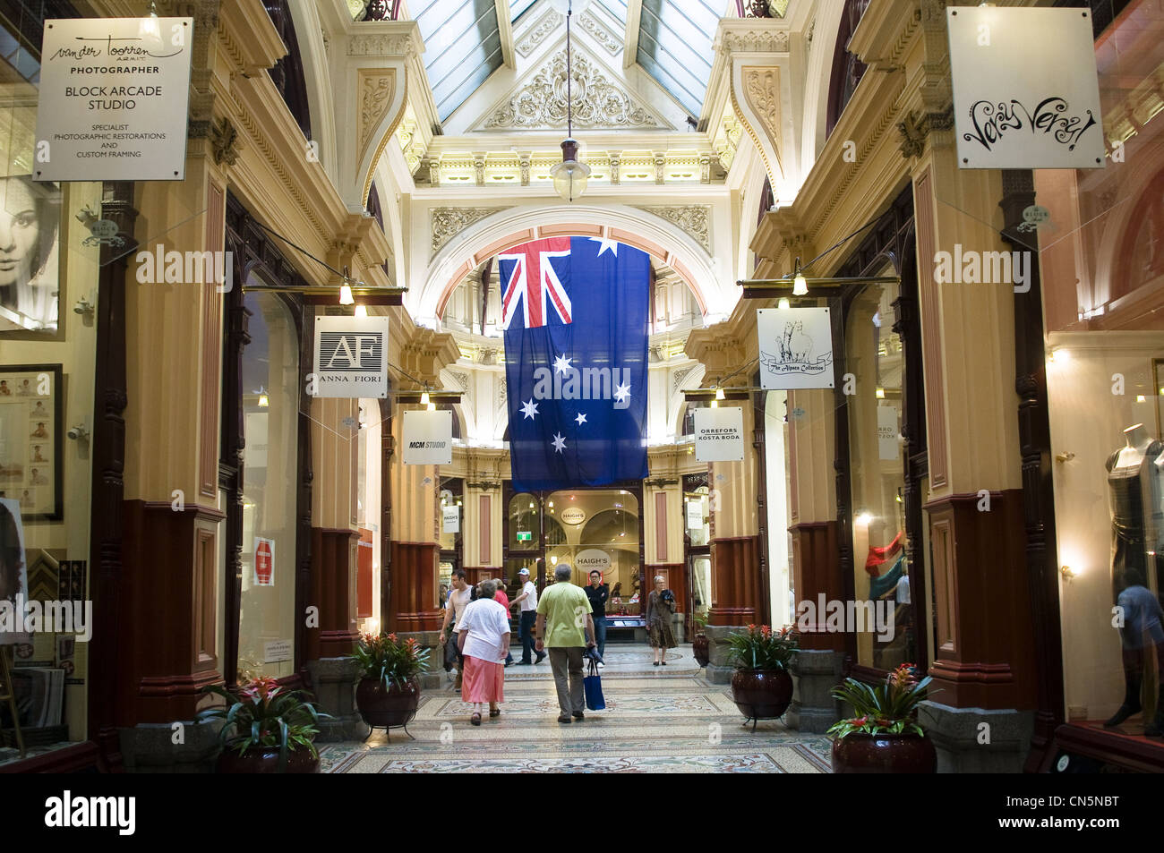 Australia, Vicoria, Melbourne, downtown, Block Arcade - Stock Image