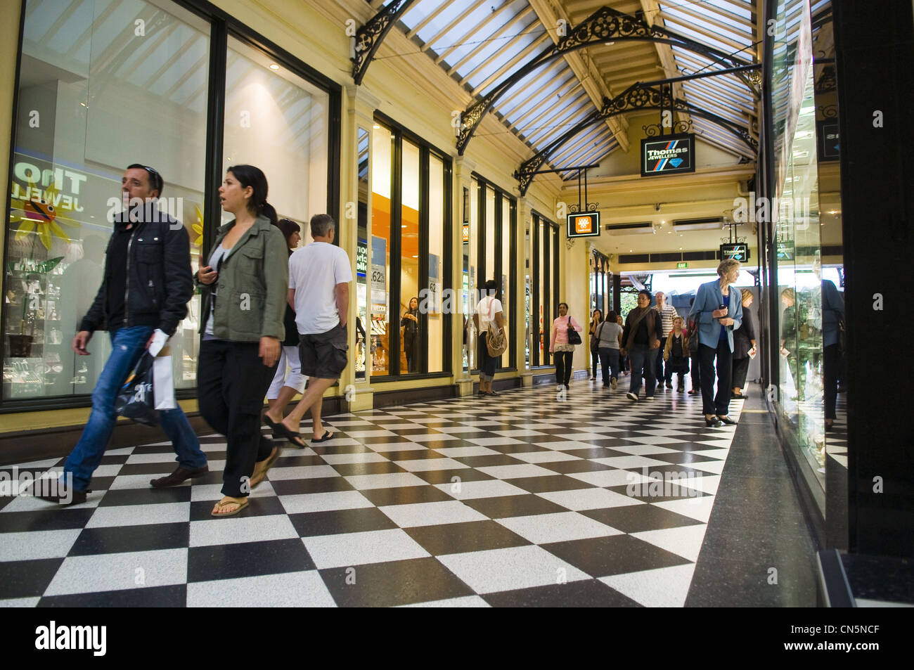 Australia, Vicoria, Melbourne, downtown, Royal Arcade - Stock Image