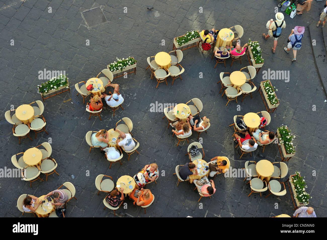 Italy, Campania, Amalfi Coast, listed as World Heritage by UNESCO, Amalfi, piazza Duomo - Stock Image