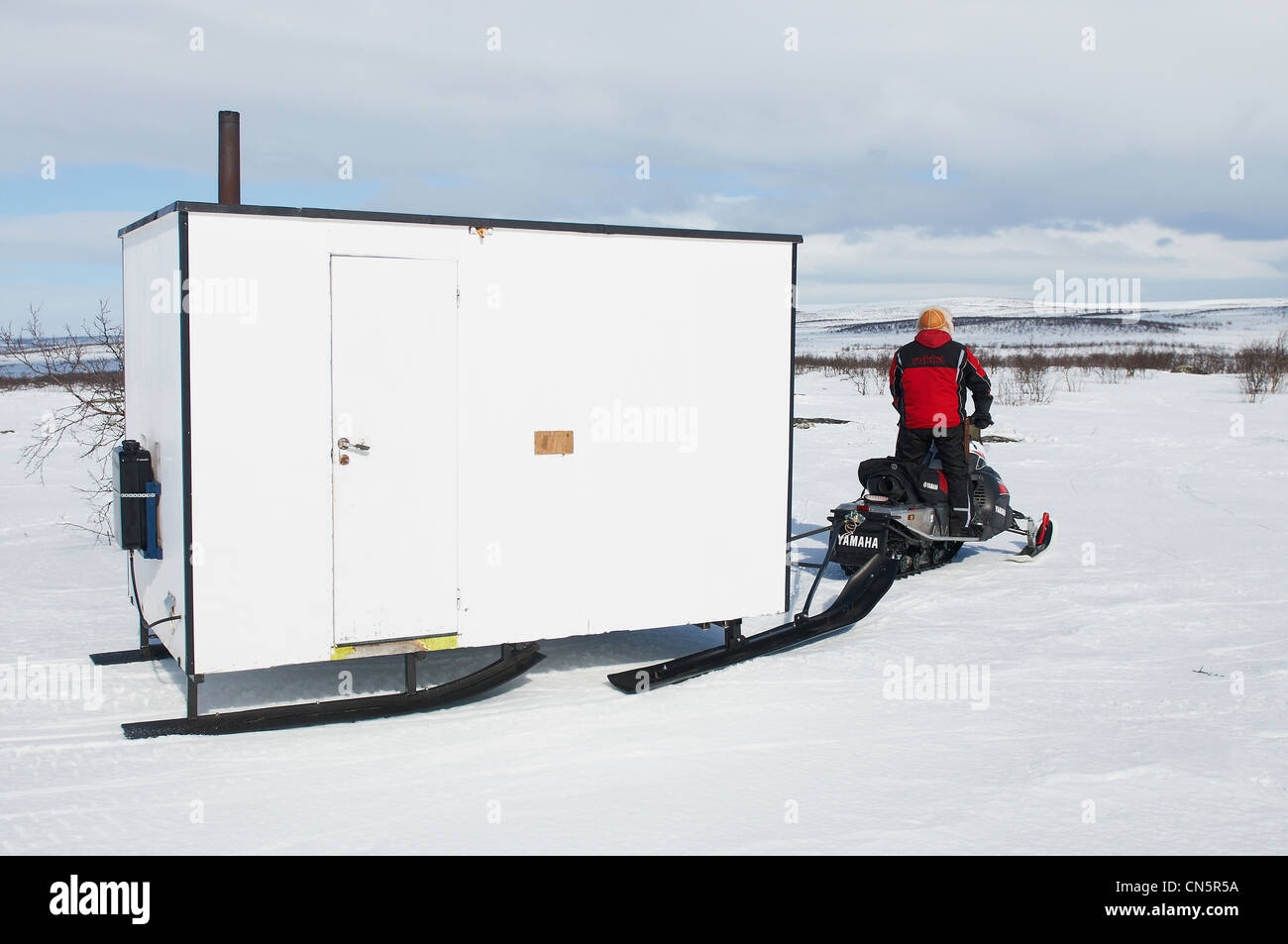 Norway, Lapland, Finnmark County, Karasjok, the great annual reinder migration breeders in reinder watching - Stock Image