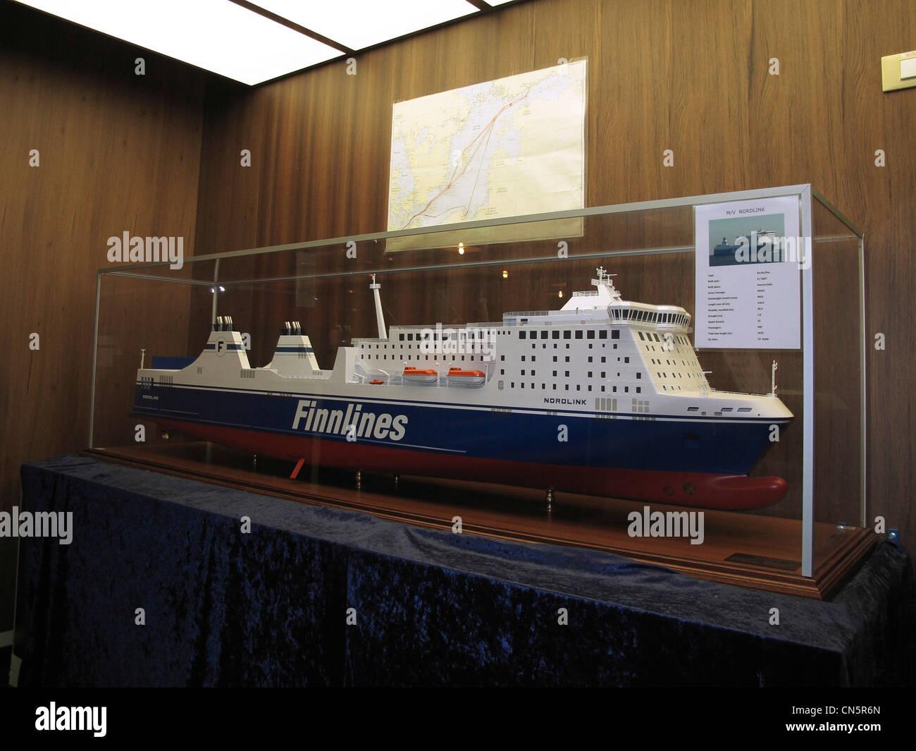 Scandinavia Finnline model - Stock Image