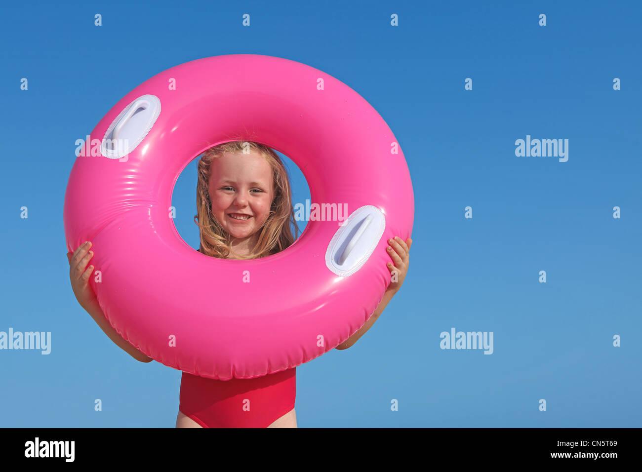 summer beach kid - Stock Image
