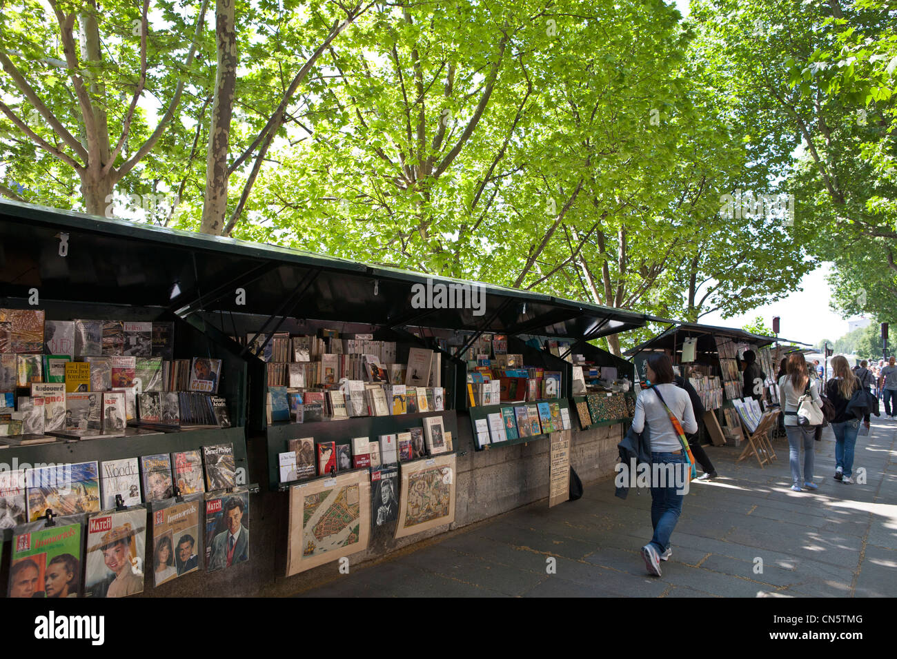 France, Paris, quai de la Megisserie, the booksellers - Stock Image