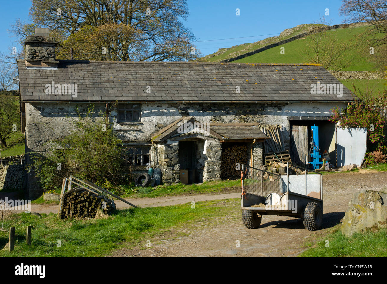 Far Orrest Farm, near Windermere, Lake District National Park, Cumbria, England UK - Stock Image