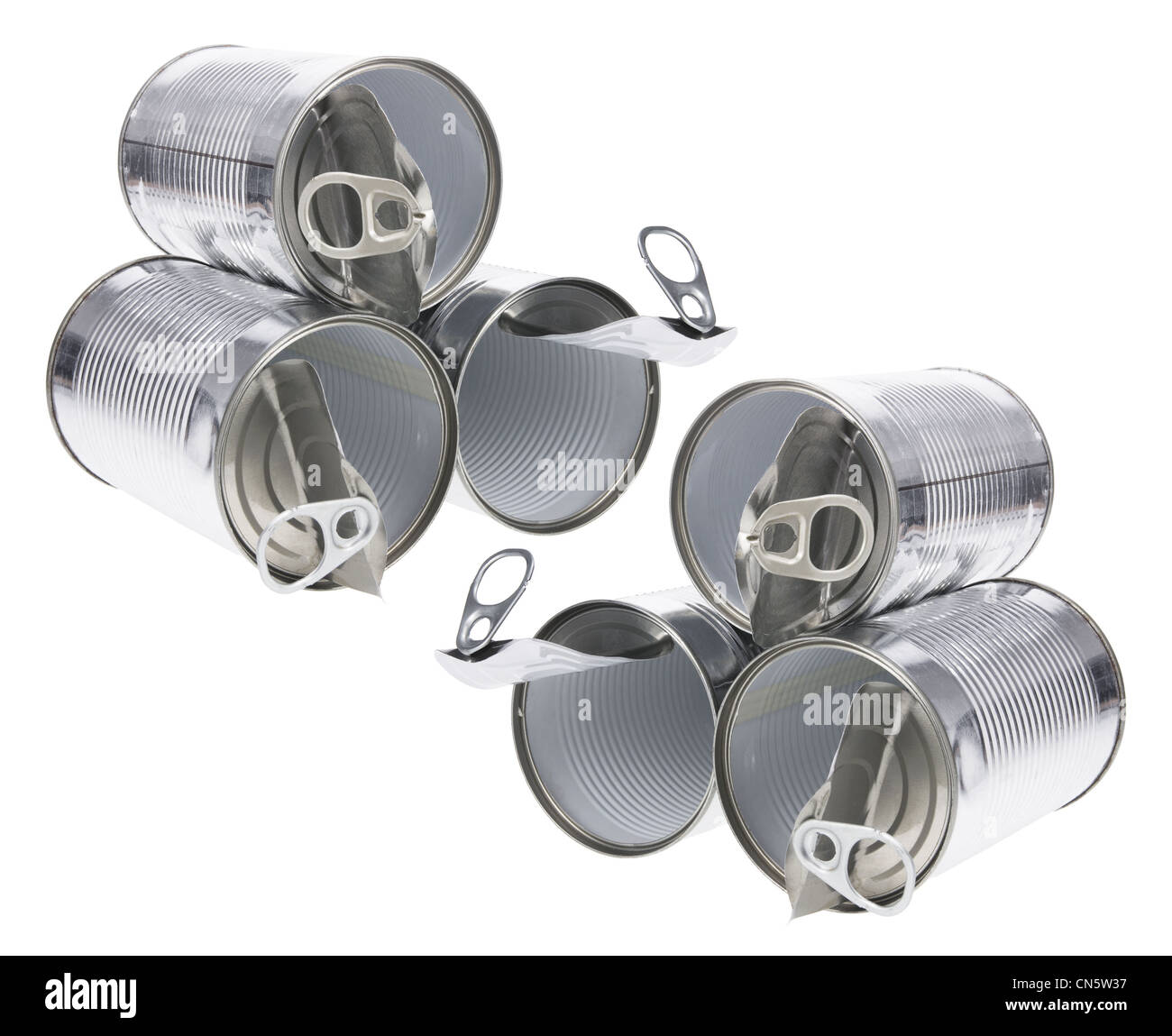Tin Cans - Stock Image