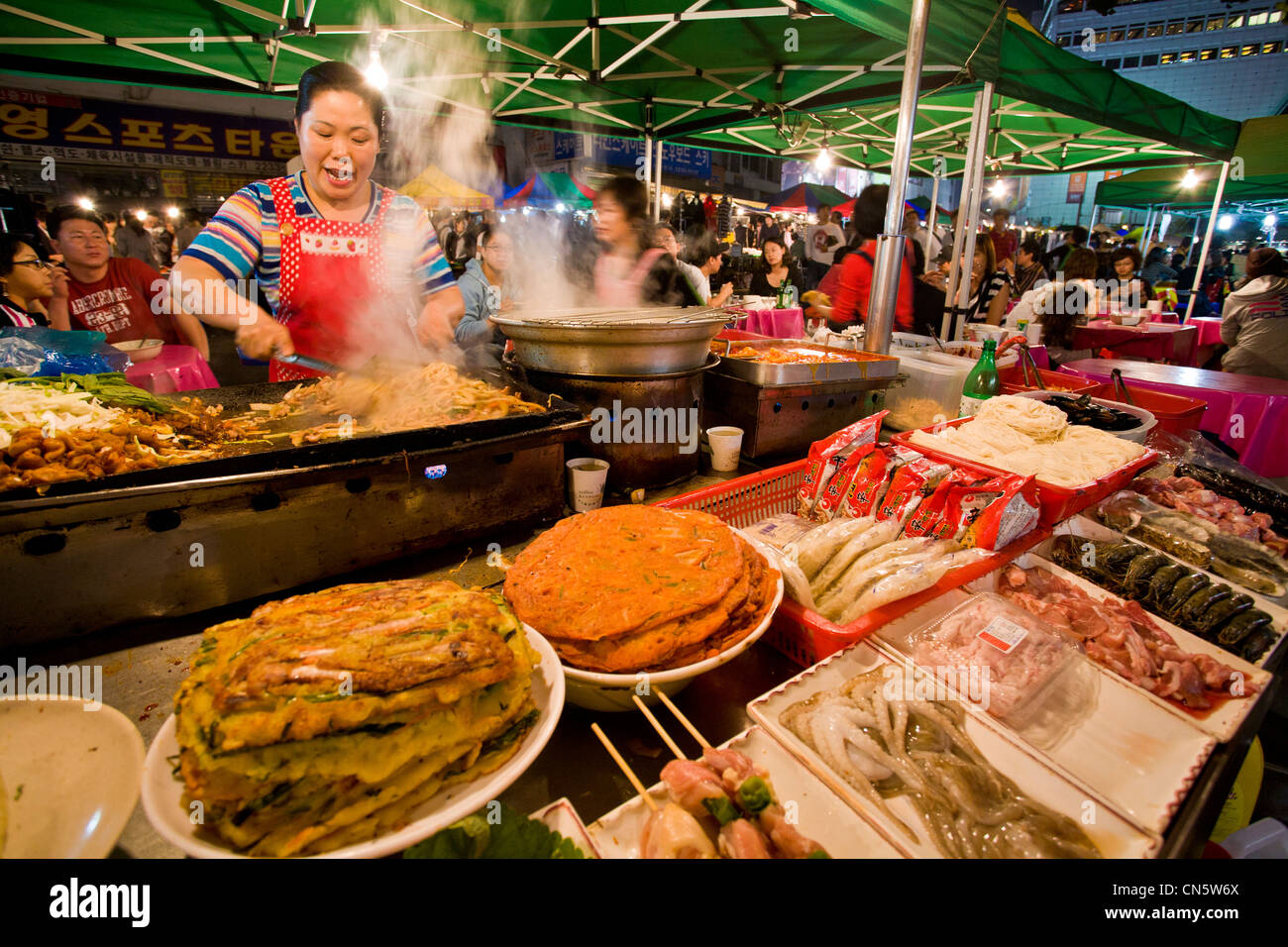 South Korea Seoul Dongdaemun District Kitchen Of An