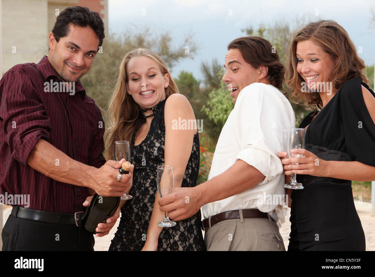 party champagne - Stock Image