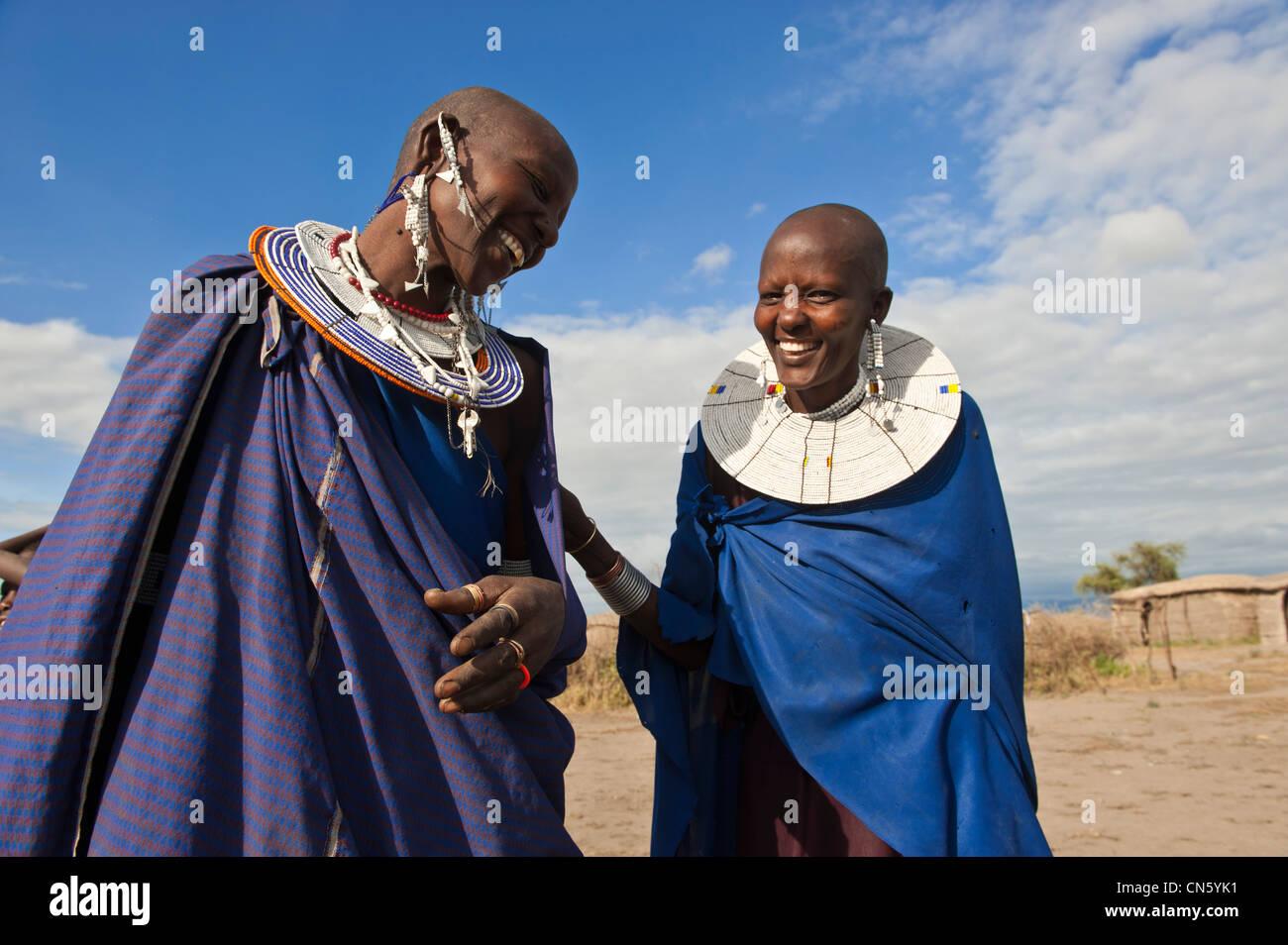 Tanzania, Arusha region, Rift Valley, some of the Manyara National Park, Masai village around Mto Wa Mbu - Stock Image
