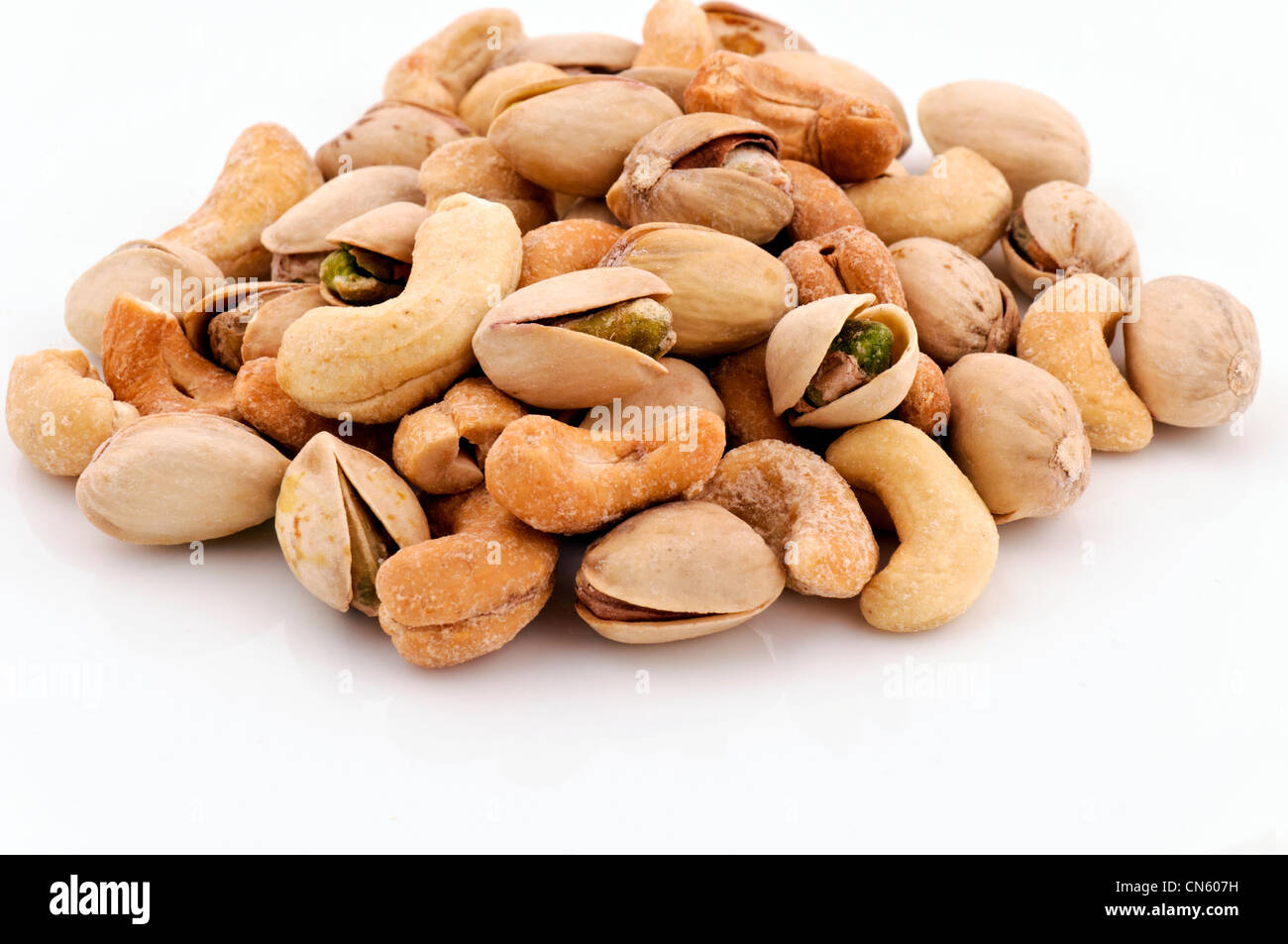 Whole nuts mixed - Stock Image