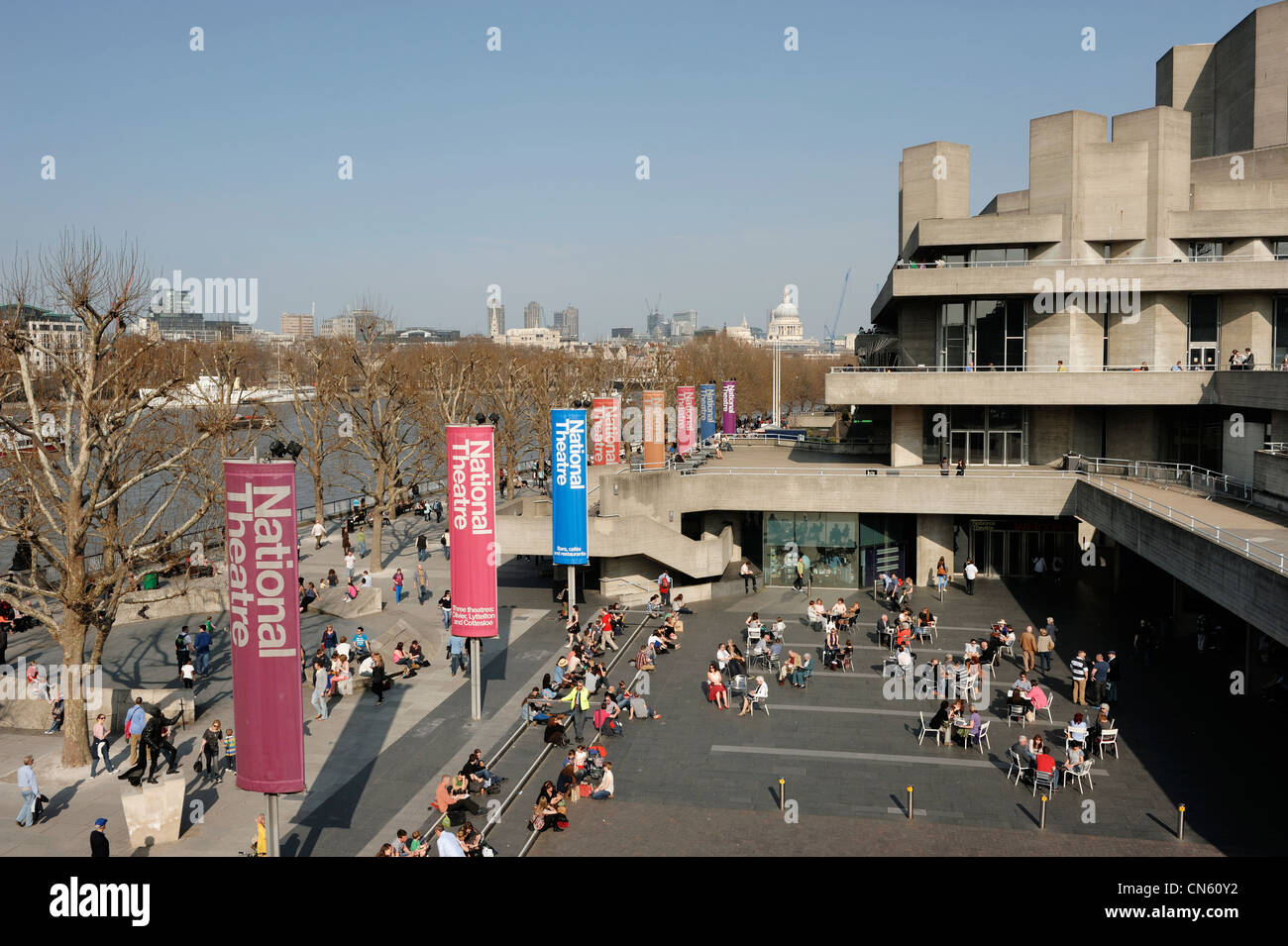 The National Theatre London - Stock Image