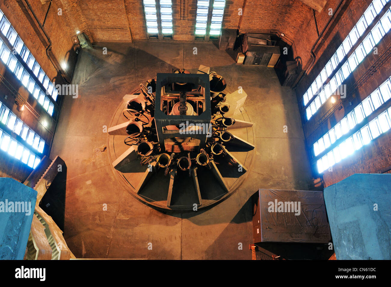 Inside the bell chamber of Liverpool Cathedral - Stock Image