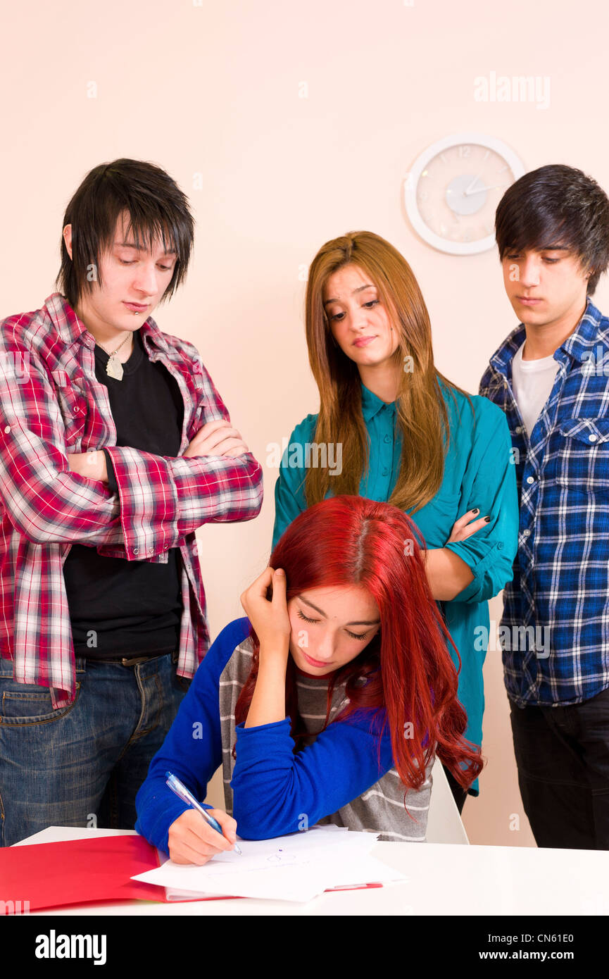 Bullying Teenagers Stock Photos & Bullying Teenagers Stock
