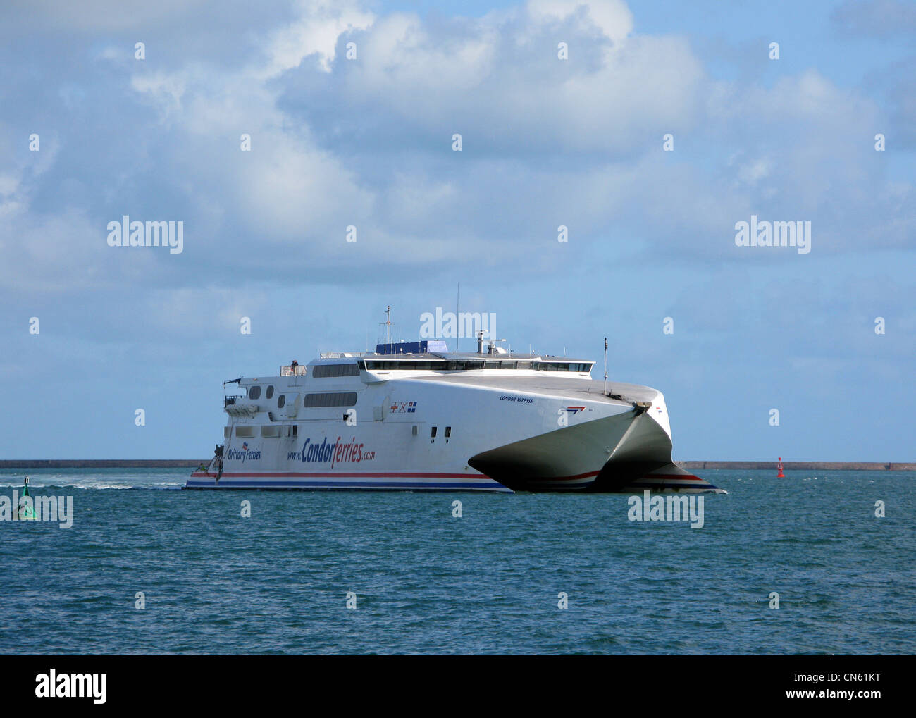 The Condor Express High Speed Ferry - Stock Image