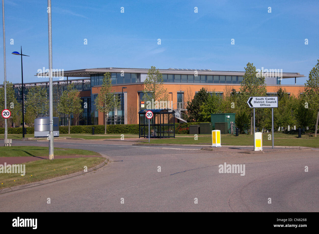 South Cambs District Council offices Great Cambourne Cambridgeshire England - Stock Image