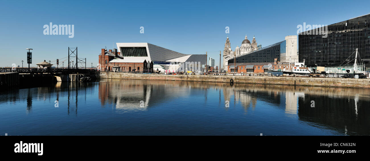 Museum of Liverpool panoramic cityscape - Stock Image