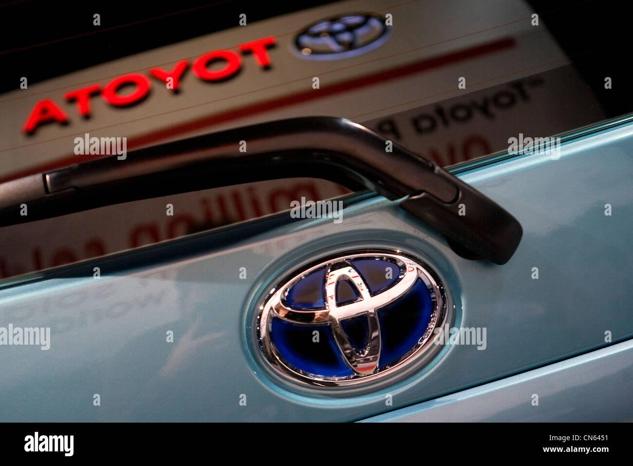 A Toyota Prius on display at the 2012 Washington Auto Show. - Stock Image