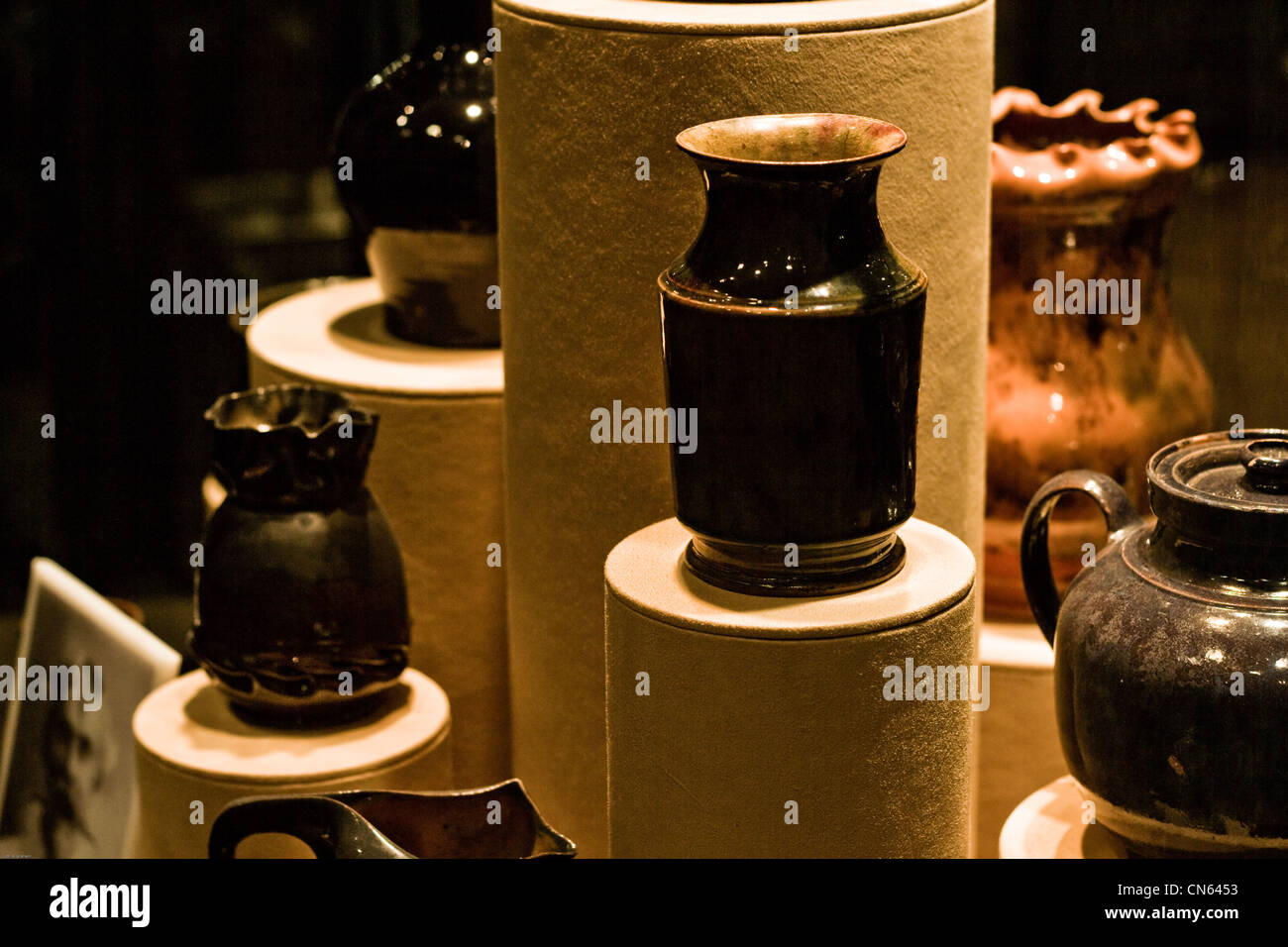 A window display in a department store. - Stock Image