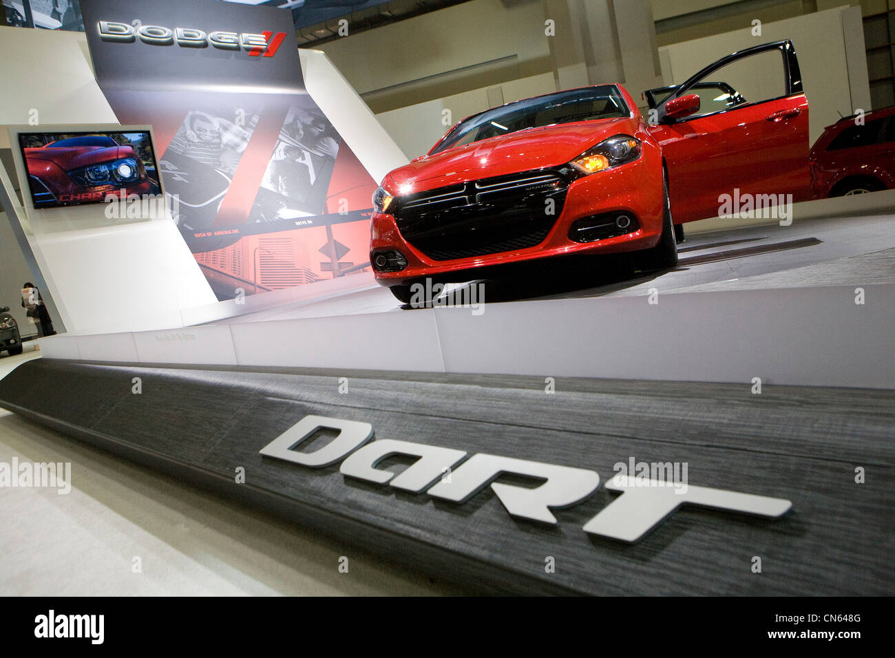 A Dodge Dart on display at the 2012 Washington Auto Show. - Stock Image