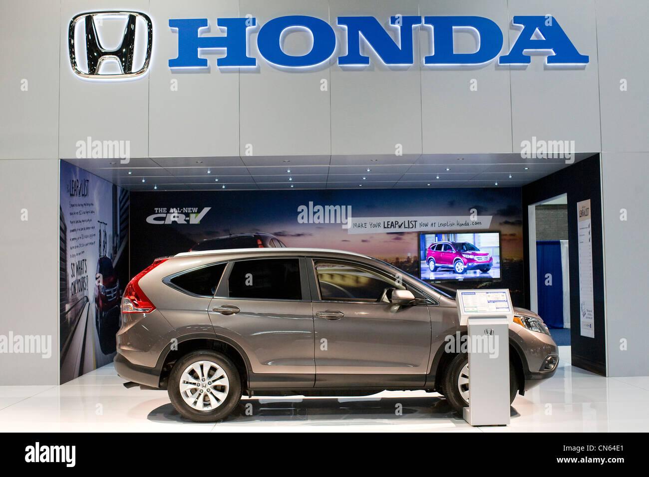 Honda CRV on display at the 2012 Washington Auto Show. - Stock Image