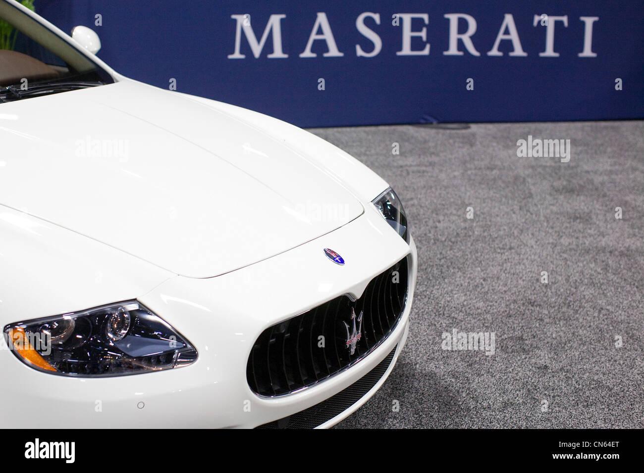 A Maserati on display at the 2012 Washington Auto Show. - Stock Image