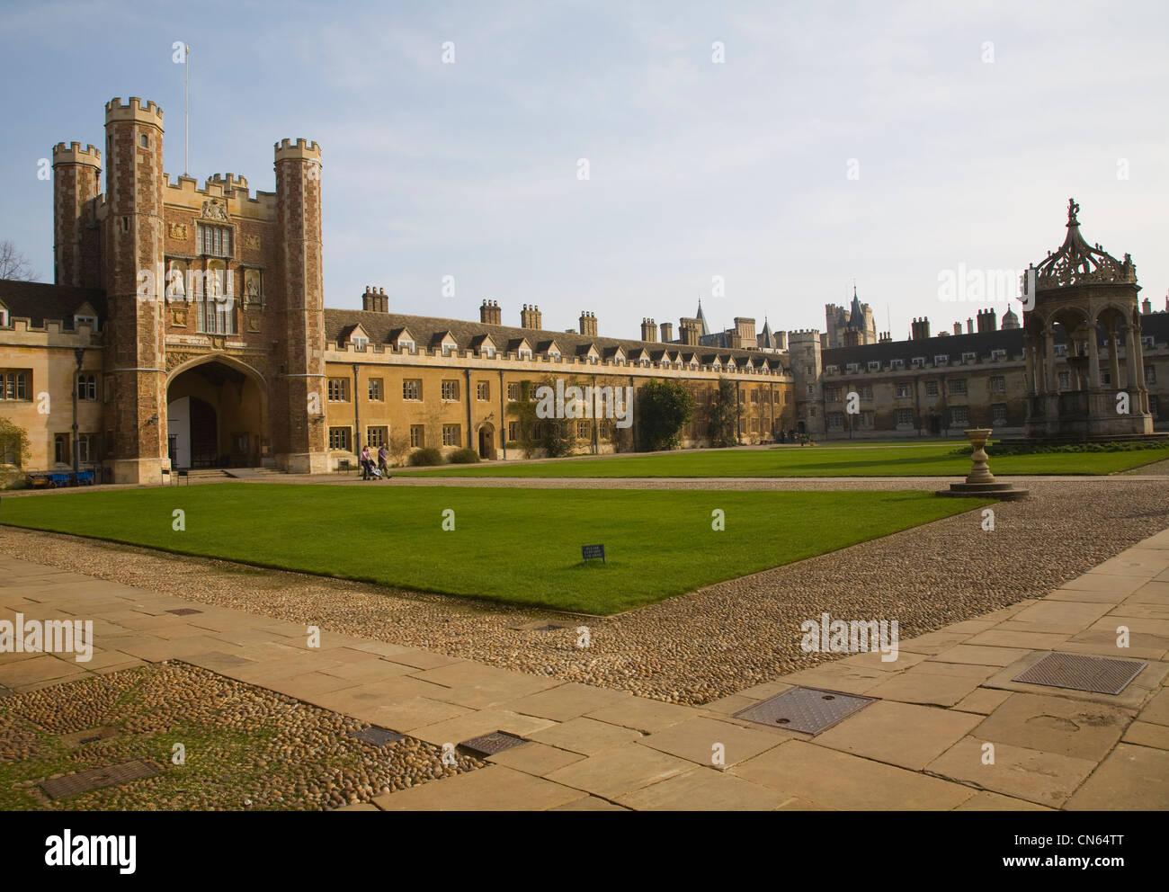Trinity College Cambridge University England Stock Photo